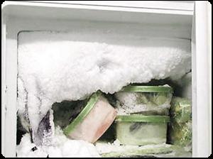 Снежная шуба в холодильнике
