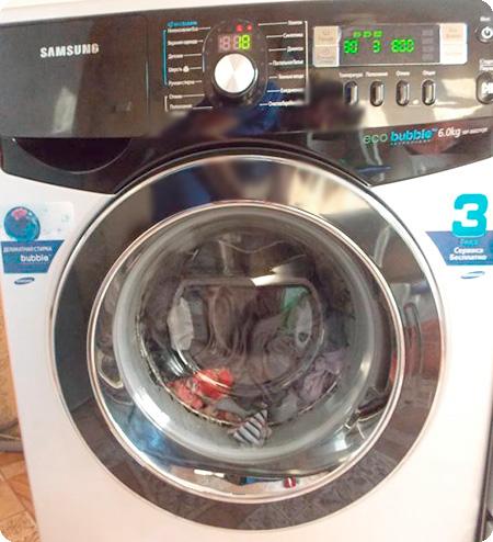 Зависла стиральная машина Samsung